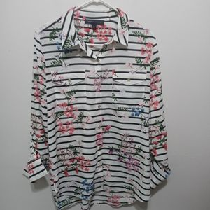 Tommy Hilfiger Long Sleeve Floral Print Shirt